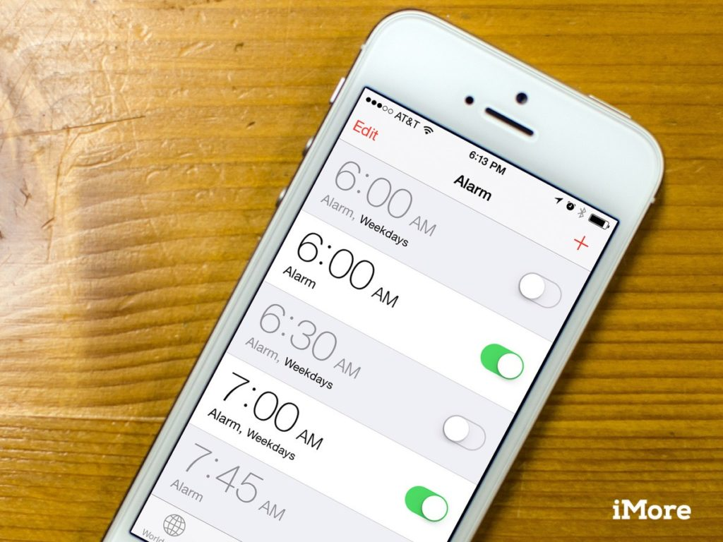 Alarm Clock in Apple IPhone 6s